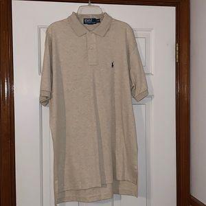 Cream/ beige Polo Ralph Lauren Shirt.